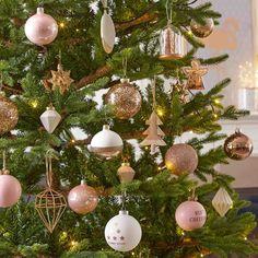 Boule de Noël pailletée dorée en verre 8 cm GLOSS | Maisons du Monde