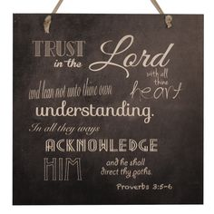 www.giftsoflovingkindness.com The warm touch of wood creates a captivating effect beyond that of traditional framed and canvas pieces. This scripted Trust in the Lord Mix-n-Match Wood Art from Proverbs 3:5-6, on chic chalkboard, adds a unique texture to your home décor.  Every product on our lovingkindness website assists in supporting change around the world.