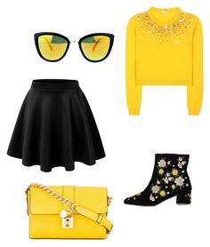 """""""Sunny Babe"""" by chookie1603 on Polyvore featuring Topshop, Miu Miu, LE3NO and Dolce&Gabbana"""