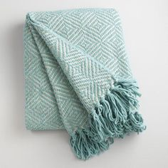 One of my favorite discoveries at WorldMarket.com: Arctic Blue Geo Chenille Throw
