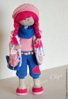 Вязаная кукла - Модница Жанета - розовый,вязаная кукла,вязаная кукла минск