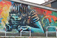 Alice Pasquini - Casal Bernocchi (Roma) rinasce con l'arte urbana