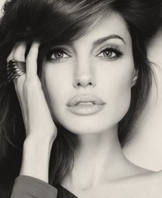Angelina Jolie with the luscious hair and beautiful eyes ;)