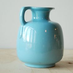 Robin's Egg Blue Frankoma Honey Jug Sapulpa Clay Vintage by vint, $20.00