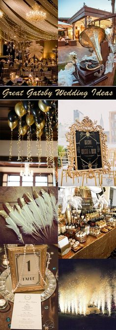 30 Great Gatsby Vintage Wedding Ideas for 2018 Trends große gatsby themenorientierte Vintage Hochzeitsideen Wedding Ideas 2018, Wedding Themes, Wedding Tips, Wedding Events, Wedding Planning, Dream Wedding, Gatsby Wedding Decorations, 1920s Wedding Decor, Wedding Bells