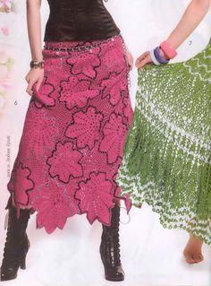 Crochet skirt, free pattern