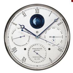 Erwin Sattler, Clock, Wall, Home Decor, Pendulum Clock, Ideas, Watch, Homemade Home Decor, Clocks