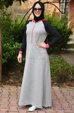 sport abaya! Abaya Fashion, Muslim Fashion, Fashion Outfits, Hijab Dress, Hijab Outfit, Sports Hijab, Modele Hijab, Sport Fashion, Womens Fashion