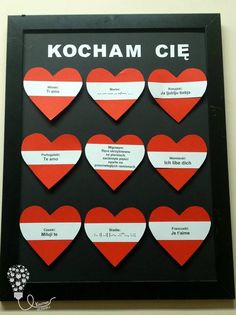 serce / kocham Cię / love / walentynki / dekoracje / diy Diy And Crafts, Arts And Crafts, Art And Craft Videos, Stained Glass Flowers, Red Rose Flower, How To Preserve Flowers, Diy Pins, Acrylic Box, Present Gift