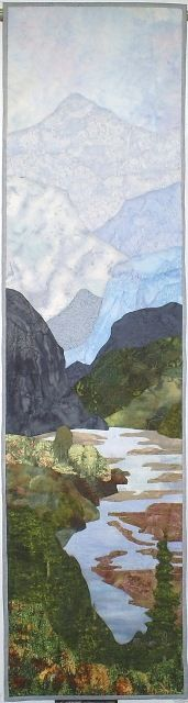 Tall Mountains by Elsie Montgomery. Love the mountains receding into the background.
