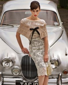 50s vintage car fashion shoot