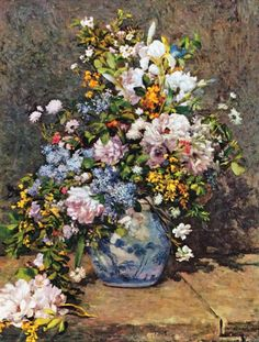 Spring Bouquet by Pierre Auguste Renoir (1866)