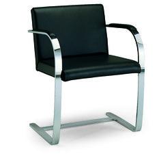 freischwinger aus leder mit armlehnen d2 7 kollektion st hle by h lsta werke h ls furniture. Black Bedroom Furniture Sets. Home Design Ideas