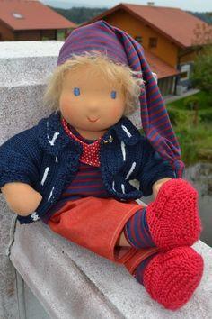 ❀✿❀ Büble ♥ Stoffpuppe 40 cm  ❀✿❀ von Hermis Puppenstube  - ♥ -  Puppenmachen ist Herzenssache - ♥ - Stoffpuppen zum Liebhaben gemacht ! auf DaWanda.com