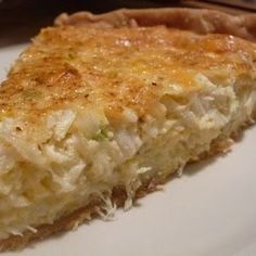 Crab dip, crab melts, crab cakes – all are delicious ways to enjoy fresh blue crab from the Chesapeake Bay. This Crab Pie recipe just blows everything else out of the water, so to speak. Crab Dishes, Seafood Dishes, Fish And Seafood, Seafood Recipes, Blue Crab Recipes, Lump Crab Meat Recipes, Seafood Party, Tasty Dishes, Quiches