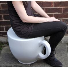 Tea cup stool various colours uk online made in the united kingdom