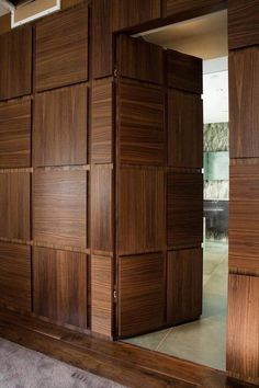 Hidden door is an amenity that makes a house more fun. There are many ways to create such door. Here, we listed hidden door ideas to help you do. Main Door Design, Wooden Door Design, Front Door Design, Wooden Doors, Wooden Windows, Wooden Partition Design, Flush Door Design, Slab Doors, Entrance Design