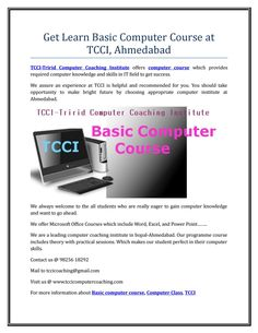 Get learn basic computer course at tcci,ahmedabad