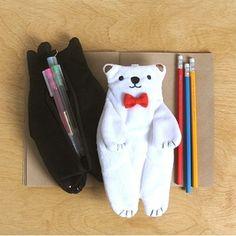 Ribbon tie pencase