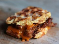 Fried Chicken & Waffle Grilled Cheese