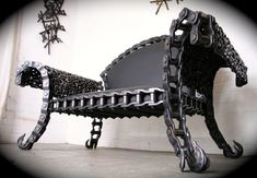 STIG steel bench - Recycled Scrap Metal Creations Fresh From the Dump