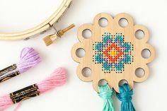 Flor hilo soporte Kit DIY organizador de seda por RedGateStitchery