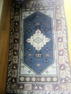 Turkish rug. This carpet was made in the village of Kula. Purchased in Izmir's