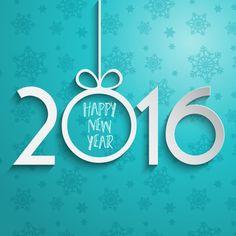 Fondo de número de año nuevo de papel Vector Gratis