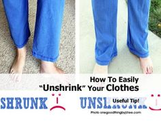 """How To Easily """"Unshrink"""" Your Clothes"""