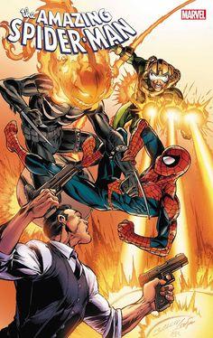 The Amazing Spider-Man vol 5 #69 | Cover art by Mark Bagley, John Dell & Brian Reber Book Cover Art, Comic Book Covers, Comic Books, Comic Art, Marvel Comics Art, Marvel Heroes, Spider Man 2018, Marvel Masterworks, Mark Bagley