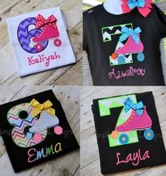 Custom roller skate birthday shirt by SimplieGirlieDesigns on Etsy