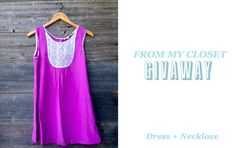 Cute summer dress + necklace #giveaway