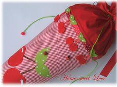 """Schultüten - Schultüte """" Sweet Cherry """" Zuckertüte Kirsche - ein Designerstück von Home-sweet-love bei DaWanda"""