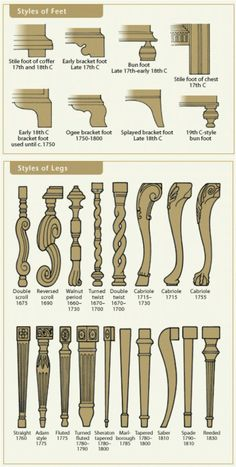 And learn the styles of chair legs as well