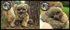 """SOLD 5 Day Auction Adoption eBay--> www.ebay.com/itm/-/14166391932… Meet:""""Bobo!"""" The Baby Bear! 100% Handmade.Synthetic fur-I do not use casts or patterns, (..."""