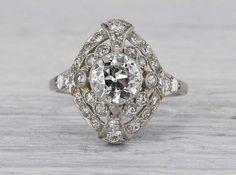 1.01 Carat Edwardian Engagement Ring