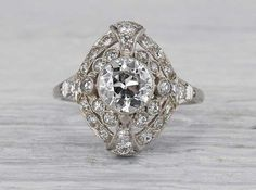 1.01 Carat Edwardian Engagement Ring