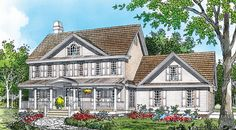 The Ridgeland - I love how this utilizes skylights throughout the home & the porch.