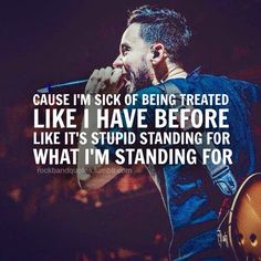 Like this war's really just a different brand of war, Like it doesn't cater to rich and abandon poor. Linkin Park - Hands Held High