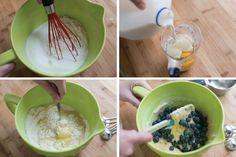 Kolay Blueberry Muffin tarifi Adım 1
