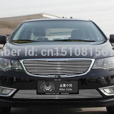94.10$  Watch here - http://ali6mp.worldwells.pw/go.php?t=32744806939 - Quality Stainless steel Car front bumper Mesh Grille Around Trim Racing Grills 2014-2016 For kia Forte  94.10$