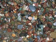 Really this is what you walk on! Is that beautiful or what? Moonstone Beach Cambria Ca
