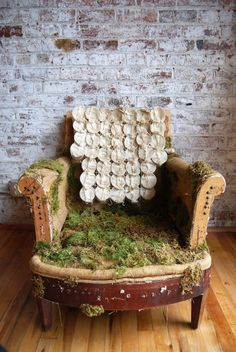Love!!!!   Hey, I found this really awesome Etsy listing at http://www.etsy.com/listing/127827691/deconstructed-vintage-chair