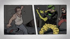 """Emmy nominated(!) opening title sequence and motion comic animation I created for the film """"Superheroes"""". Animation by little 'ol me, illustrations by Jeremy Arambulo and Jeff Chen. Check out the film it's so good. Directed by Michael Barnett"""