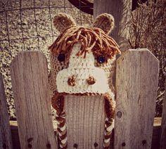 Crochet Horse Hat Pony Cap Crochet Animal by ThePoppySeedShoppe, $20.00