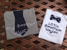 Personalized sibling shirt big brother little by LaurensNook, $30.00