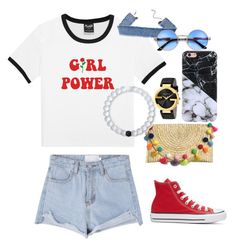 """Girl power🥀"" by superella-1 on Polyvore featuring Converse, Gucci and Lokai"