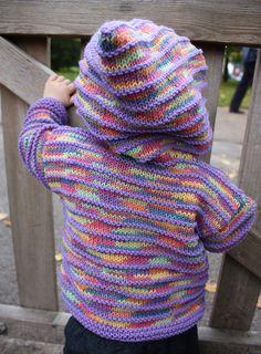 Garter Ridge Hoodie free Knitting Pattern