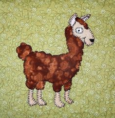 Alpaca PDF applique pattern