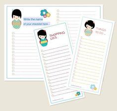 Creative Mamma » Free printable: Kokeshi Doll Organization Kit